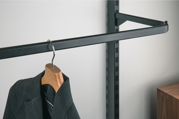 Wardrobe rail, For inserting into oval clothes rail support of bracket