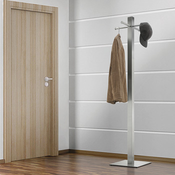 Wardrobe stand, Stainless steel, with 4 hooks