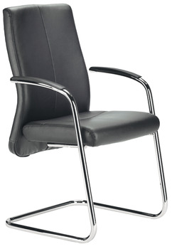 XL project chair, C2011, padded seat and backrest: Leather cover