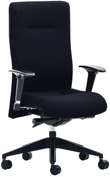 XP Office chair, O4010, padded seat and backrest: Fabric cover