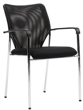 XPECT project chair, P2002, padded seat: Fabric cover, padded backrest: Network