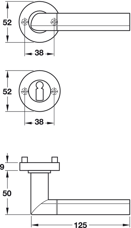 Door Handle Set, Brass, Jado, Conform 380/961 | Online At HÄFELE