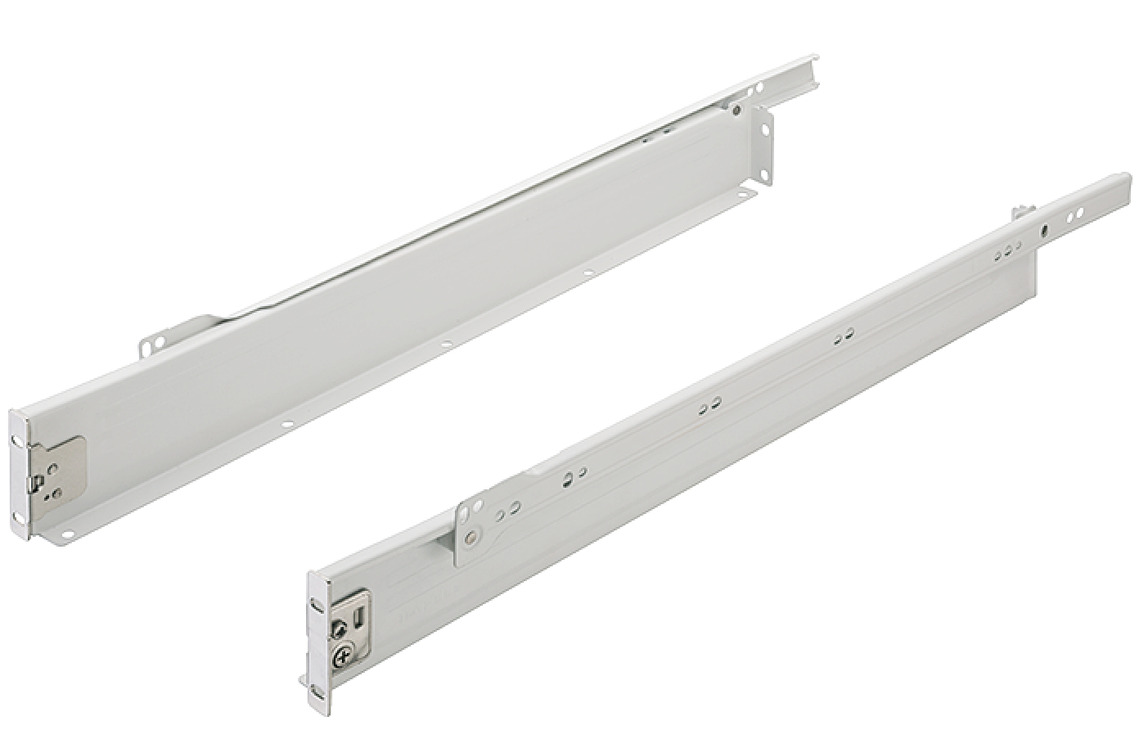 Drawer Side Runners Single Walled Single Extension Height 54 Mm