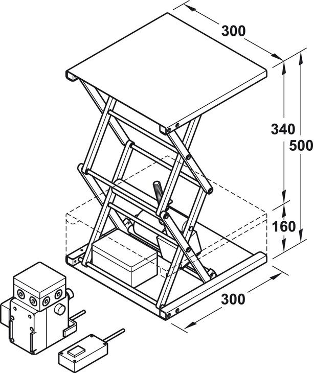 lift system  double scissor mechanism  load