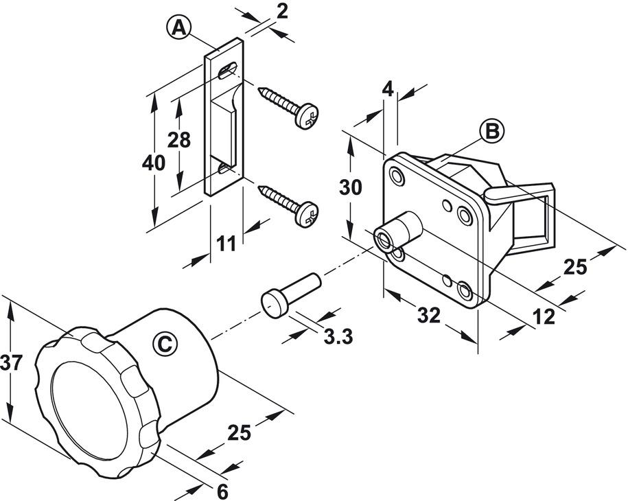 Magnetic Lock System For Doors Safe Fix