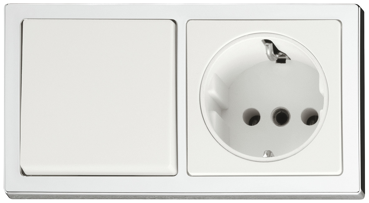 Off-switch and socket, Built-in set with SV16 plug, 230 V