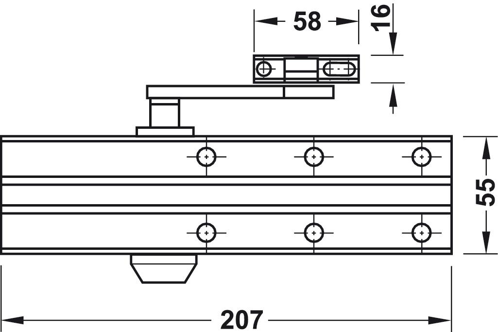 door closer installation. overhead door closer, dcl 15, en 2\u20134, startec closer installation