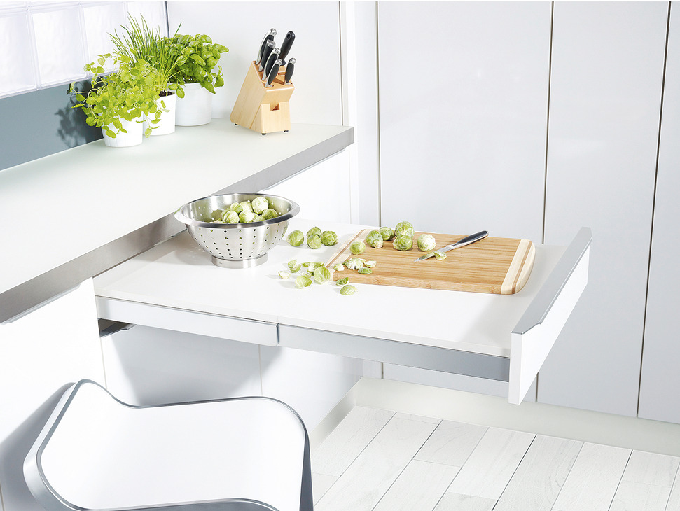 Pull Out Table Fitting Steel 30 Kg With Worktop