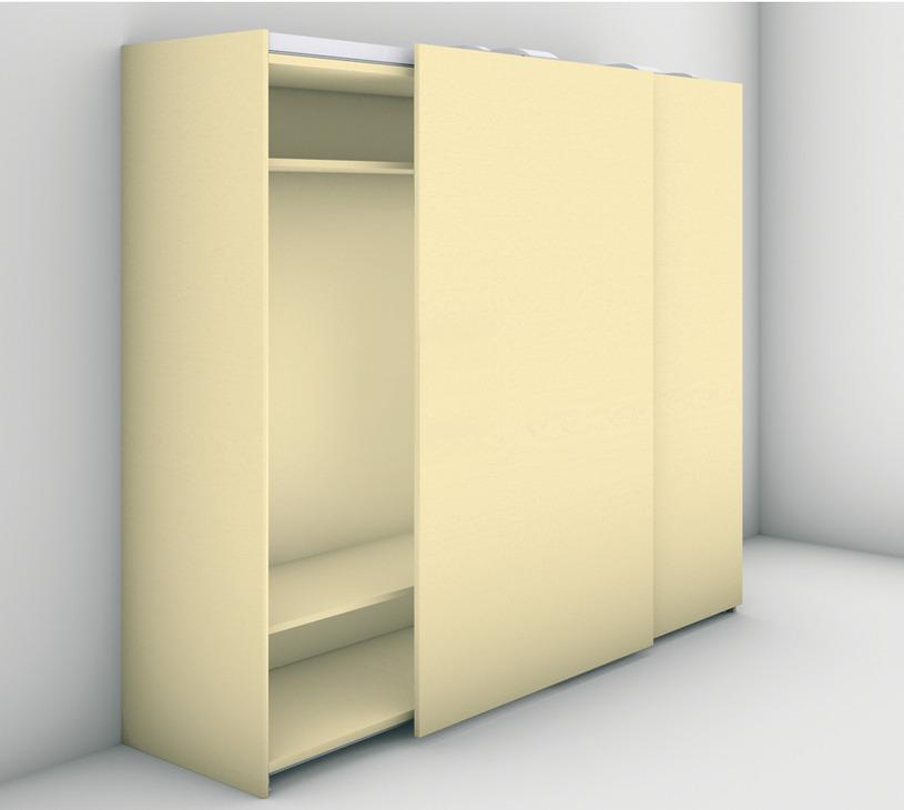 Door Straightening Bar: Sliding Door Fitting, Finetta Flatfront L 100 FB, Set