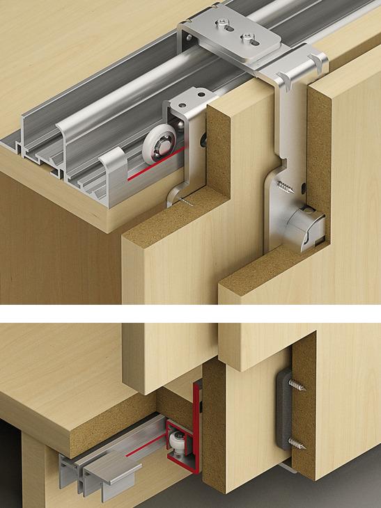 Sliding door fitting, Slido Classic 60 VF T, set | online at