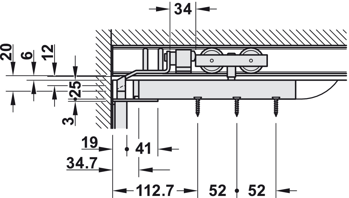 Sliding Door Lock Hawa Silent Stop Espagnolette Mortise Diagram Junior 80 B Pocket And Installation