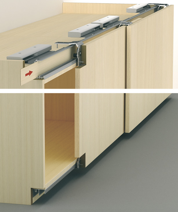 self closing door mechanism. basic fitting with smuso soft and self mechanism decorative strips closing door 4