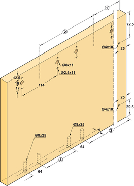 schiebet rbeschlag finetta flatfront m 50 fb standard. Black Bedroom Furniture Sets. Home Design Ideas