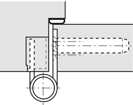 Bekannt Einbohrband-Rahmenteil, Simonswerk V 4400 WF, für ungefälzte und RZ37