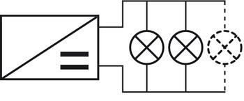 Nätdel, Häfele Loox,12 V konstant spänning, med anslutningskabel, EU-kontakt